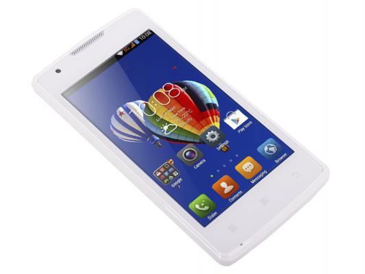 "Смартфон Lenovo A1000 белый 4"" 8 Гб GPS Wi-Fi PA1R0007RU"