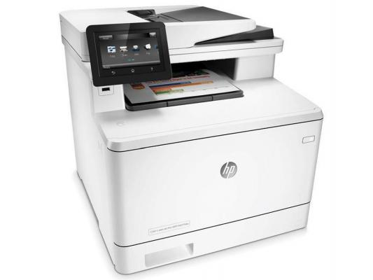 МФУ HP Color LaserJet Pro M477fdw CF379A цветное A4 28ppm 600x600dpi Duplex Ethernet USB Wi-Fi new paper delivery tray assembly output paper tray rm1 6903 000 for hp laserjet hp 1102 1106 p1102 p1102w p1102s printer