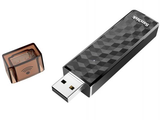Флешка USB 64Gb SanDisk Connect Wireless Stick SDWS4-064G-G46 черный usb накопитель sandisk sdcz57 064g b35 sdcz57 064g b35