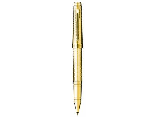 Ручка-роллер Parker Premier DeLuxe T562 корпус золотистый S0887950