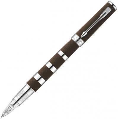 Ручка 5й пишущий узел Parker Ingenuity L F501 чернила черные корпус коричнево-серебристый S0959180