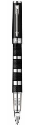 Ручка 5й пишущий узел Parker Ingenuity L F501 чернила черные корпус серебристо-черный S0959170
