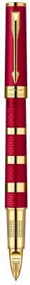 Ручка 5й пишущий узел Parker Ingenuity L F503 чернила черные корпус красно-золотистый 1858534