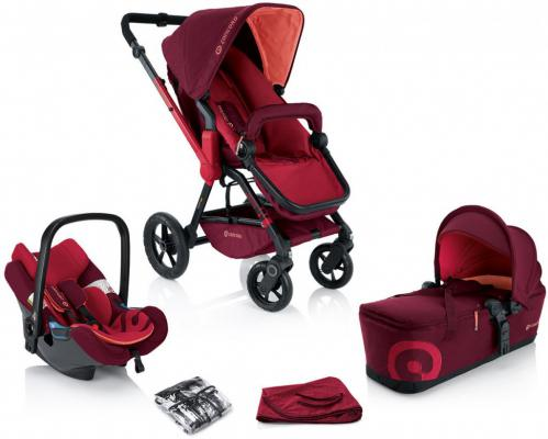 Коляска 3-в-1 Concord Wanderer Travel Set (lava red)