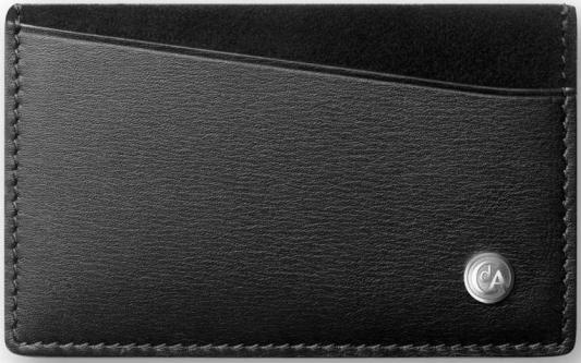 Футляр Carandache Haute Maroquinerie для визиток/кредитных карт кожа черный 6231.009
