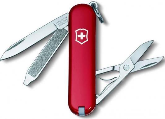 Нож перочинный Victorinox Classic 0.6223-012 58мм 7 функций красный