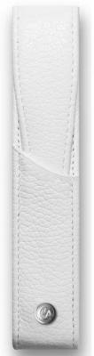 Футляр Carandache Leman Leather для 1 ручки кожа белый 6201.001