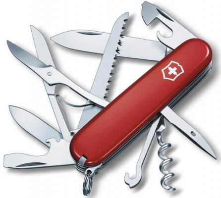 Нож перочинный Victorinox Huntsman 1.3713 91мм 15 функций красный