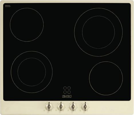 Варочная панель электрическая Smeg P864P-9 кремовый варочная панель индукционная smeg sim562b