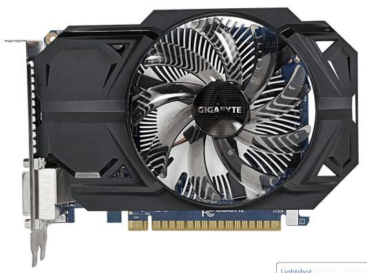 Видеокарта 1024Mb Gigabyte GeForce 750Ti PCI-E DVI 2xHDMI GV-N75TOC-1GI Retail