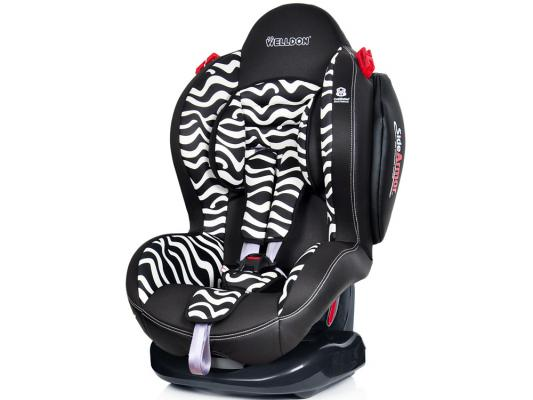 Автокресло Welldon New Smart Sport Side Armor & Cuddle Me (zebra) цена и фото