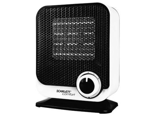 Тепловентилятор Scarlett SC-FH53K11 1500 Вт белый чёрный тепловентилятор scarlett fh53k01 sc