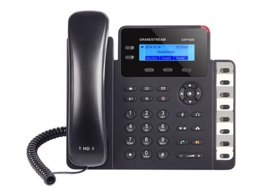 Телефон IP Grandstream GXP1628 2 линии 2 SIP-аккаунта 2x10/100/1000Mbps LCD PoE BLF