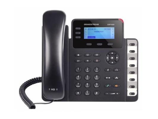 Телефон IP Grandstream GXP-1630 3 линии 3 SIP-аккаунта 2x10/100/Mbps LCD PoE BLF