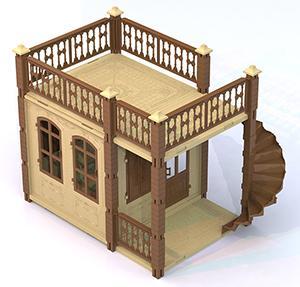 Дом для кукол Нордпласт Замок Принцессы 1 этаж 590/1