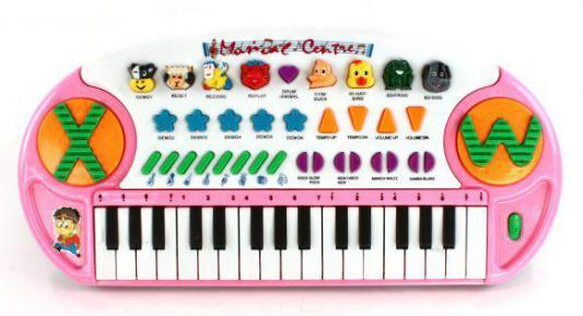 Купить Синтезатор Shantou Gepai TLF-3209A, розовый, Детские музыкальные инструменты