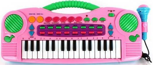 Синтезатор Shantou Gepai 32 клавиши, микрофон, демо, запись, звуки животных TLF-3211