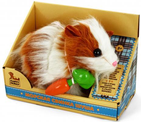 Интерактивная игрушка Fluffy Family Свинка Шуша от 3 лет коричневый 68023
