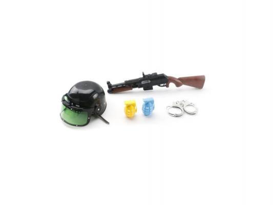 Полицейский набор Shantou Gepai каска, автомат, аксессуары 5 предметов 204