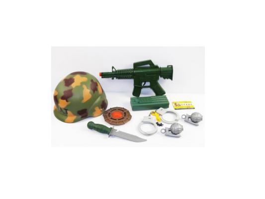 Военный набор Shantou Gepai Комбат с каской 8 предметов 66527