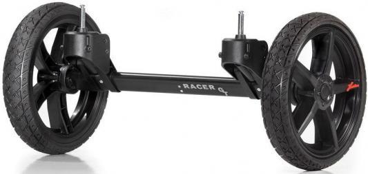 Система сменных колес Quad для коляски Hartan Racer GT (черный/оранжевый)