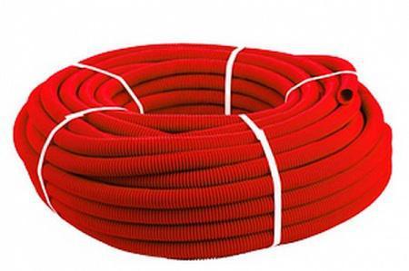 КОЖУХ для трубы 25(диаметр 40) красный 30м