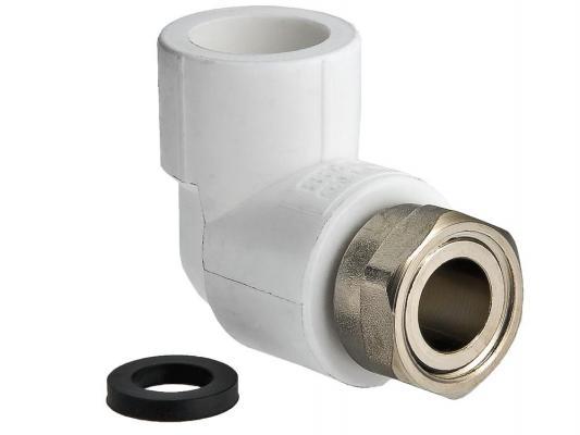 Угольник PPR с накидной гайкой 20х1/2 соединитель прямой с накидной гайкой и плоской прокладкой 20 пресс х 1 2 внутр г tiemme