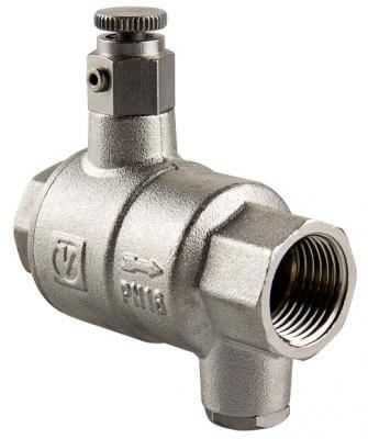 """Обратный клапан с дренажем и воздухоотводчиком  1 1/4"""""""