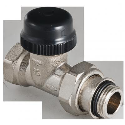 Клапан термостатический для радиатора прямой с преднастройкой (KV 0,1-0,6) 3/4 клапан полипропиленовый для радиатора valtec 25х3 4 нр прямой с американкой