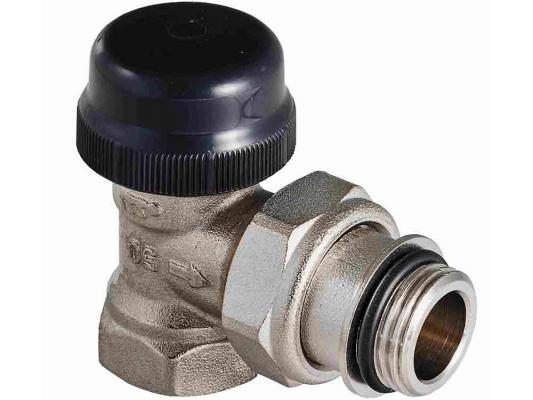 Клапан термостатический для радиатора угловой с преднастройкой (KV 0,1-0,6) 3/4 клапан полипропиленовый для радиатора valtec 25х3 4 нр прямой с американкой