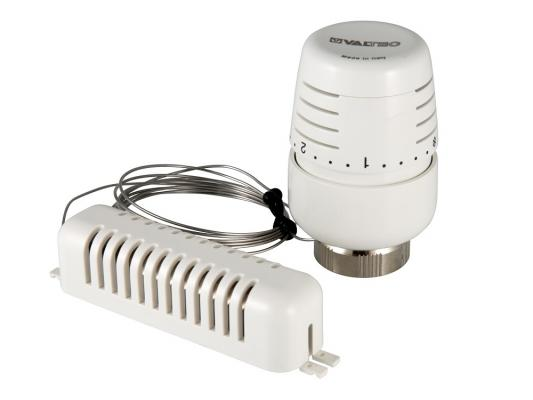 Термоголовка с выносным настенным датчиком, диап. регул-ки 6,5 - 28°C, жидкостная термоголовка stout жидкостная m30x1 5 sht 0002 003015