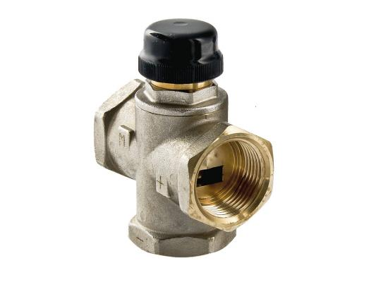 Клапан трехходовый смесительный 1 (с центральным смешиванием) клапан трехходовой смесительный 1 с боковым смешиванием с возможностью полного перекрытия
