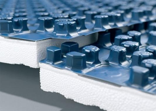 Пенополистирол с покрытием, для т/п (1100*800*38) экструдированный пенополистирол пеноплэкс скатная кровля 1200х600х100 мм п