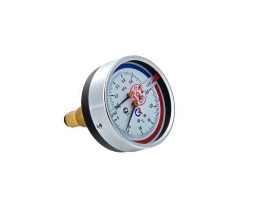 """Термоманометр ТМТБ-31Т Dy 80 с задним подключением 1/2"""", 6 бар 0-120*"""