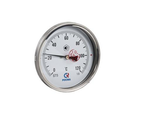 "Термометр БT-51 Dy100 с задн. подкл., 1/2"" 0-120*"
