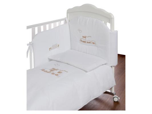 Постельный сет Italbaby Trenino (белый/100.0091-5) italbaby постельный сет italbaby nuvola