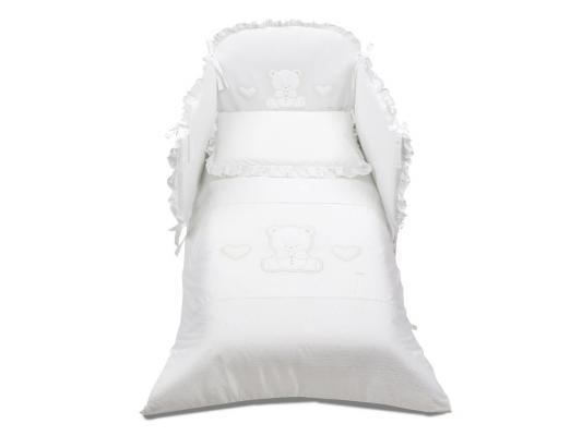 Постельный сет Italbaby Amore (белый/100,0082-5) italbaby плетеный ящик для игрушек amore italbaby белый