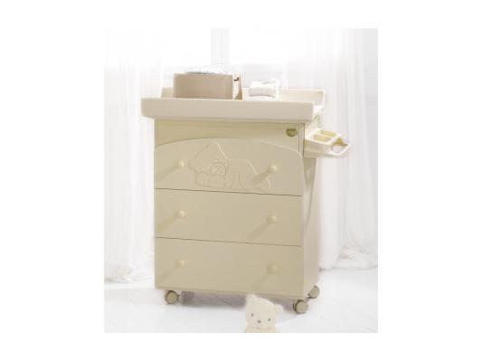 Комод пеленальный с ванночкой Baby Expert Coccolo (крем) комплект italbaby комплект мебели baby expert cuore кровать пеленальный комод трюмо шкаф крем зе��еный