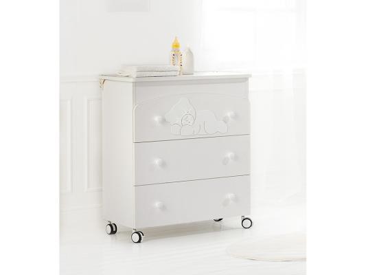 Комод пеленальный с ванночкой Baby Expert Coccolo (белый)