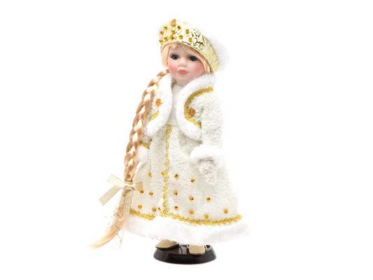 Кукла Angel Collection Снегурочка в золотом Новогодняя сказка 30.5 см фарфоровая 972030
