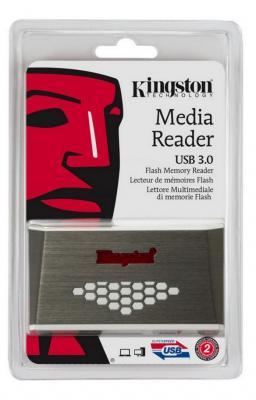 Фото - Картридер внешний Kingston FCR-HS4 USB3.0 бело-коричневый fcr 02