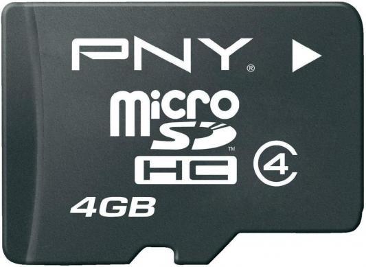 Карта памяти Micro SDHC 4GB Class 4 PNY SDU4GBAHC4OPTIMA-EF/R