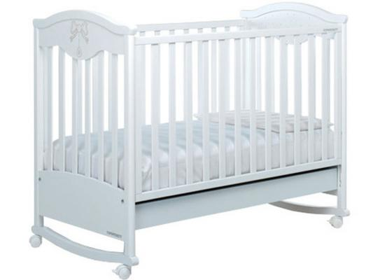 Кроватка-качалка Foppapedretti Charmant (белый)