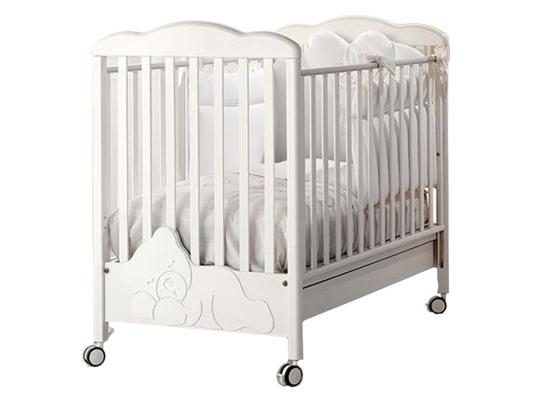 Купить Кроватка Baby Expert Coccolo (белый), бук, Кроватки без укачивания