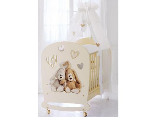 Кроватка-качалка Baby Expert Cremino (крем) baby expert cremino