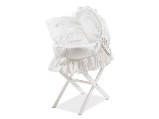 Кроватка-люлька Italbaby Amore (белый) 340,0082-5 детская кроватка kito amore с поперечным маятником