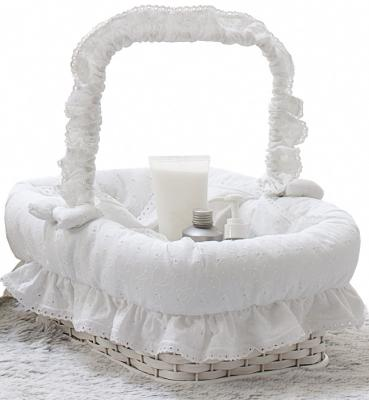 Плетеная корзина без крышки Italbaby Amore 640,0082-5 ивовые прутья белый