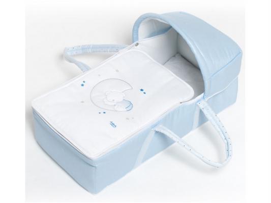 Сумка-переноска для новорожденного Italbaby Polvere Di Stelle (голубая/720.005-2) от 123.ru