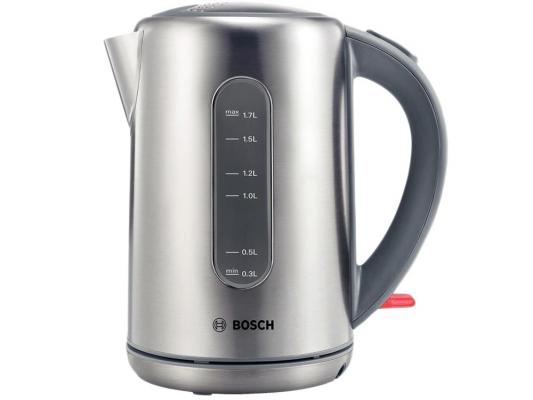 Чайник Bosch TWK 7901 серебристый 1.7 л металл чайник bosch twk 7901 нержавейка