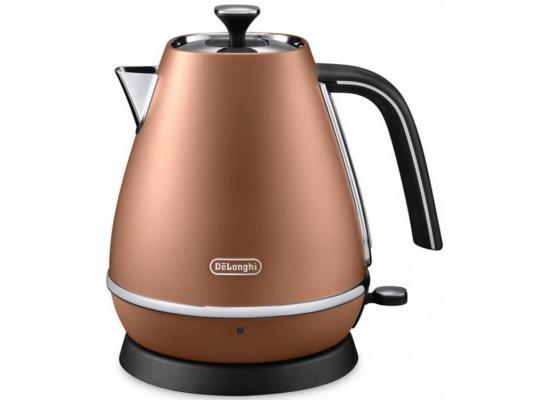 Чайник DeLonghi KBI 2001 CP 2000 Вт коричневый 1.7 л нержавеющая сталь кофемашина delonghi ecam 45 760 w белый